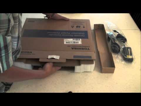 Toshiba Satellite L755: Unboxing