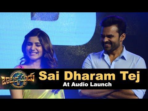 Sai Dharam Tej at Balakrishnudu Audio Launch