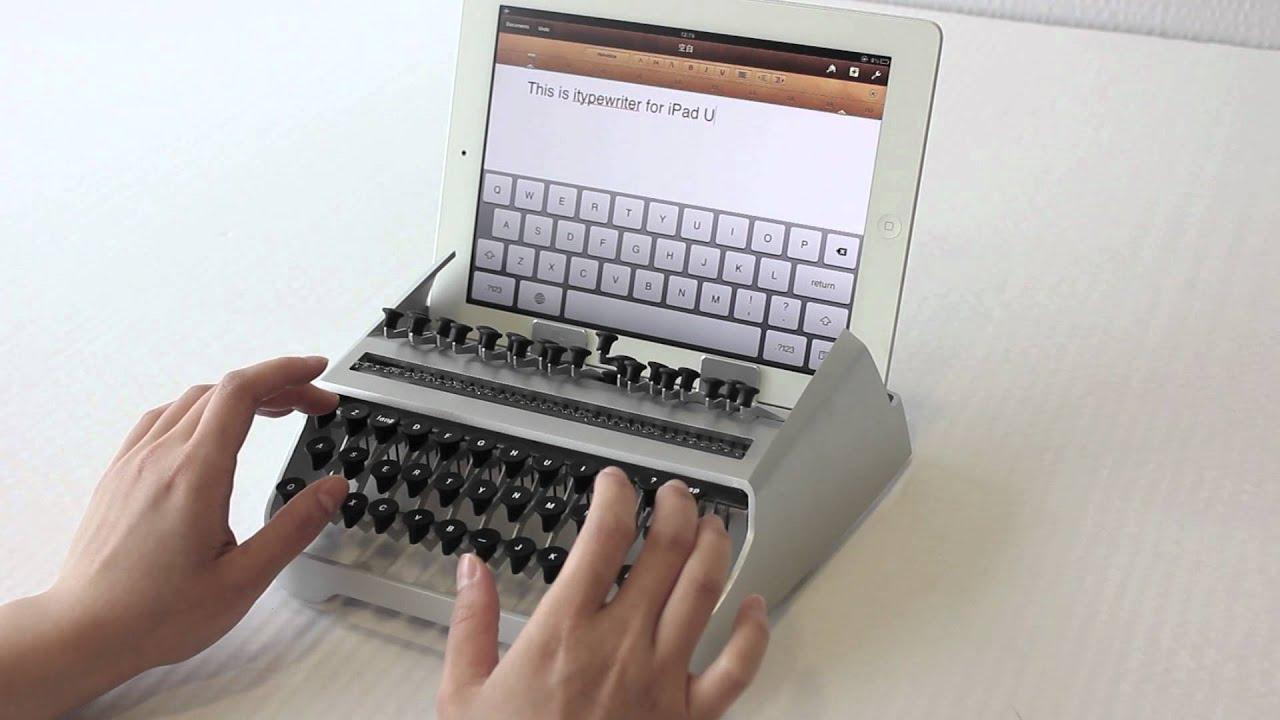 This iPad Typewriter Is Loud And Banging Fun