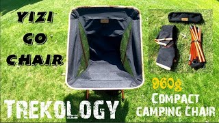 Trekology Yizi GO compact lightweight camping chair , Wild camping chair