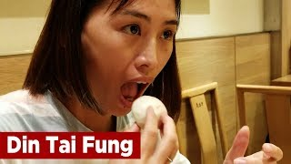 Happy Wife at Din Tai Fung - Must Eat Food in Taipei, Taiwan