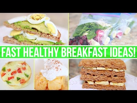 Video QUICK & HEALTHY BREAKFAST IDEAS! Healthy Fast Food!