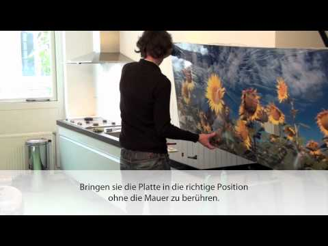 Montage der Küchenrückwand
