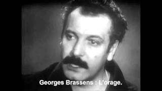 Georges Brassens : L'orage.