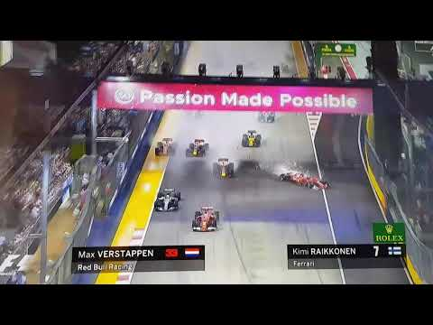 Singapore F1 Grand Prix 2017 MAJOR CRASH - Ferrari & Redbull - VETTEL TO BLAME !!!!