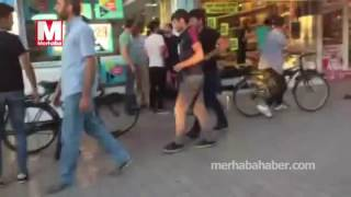 konyada suriyeliler ile türk vatandaşları kavga etti