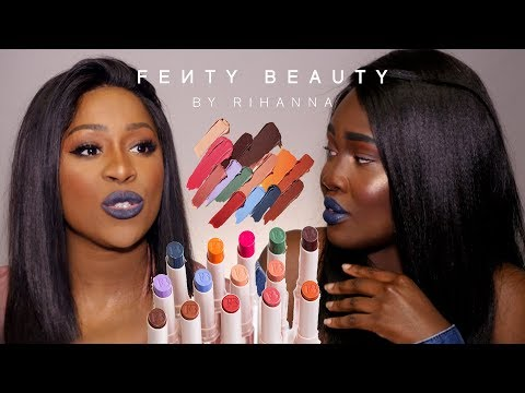 SIETE PRONTI? FENTY BEAUTY ITALIA LIPSTICK SWATCH ON DARK SKIN - RECENSIONE SEPHORA WITH MY BESTIE
