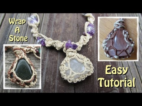 How To Wrap A Stone With String