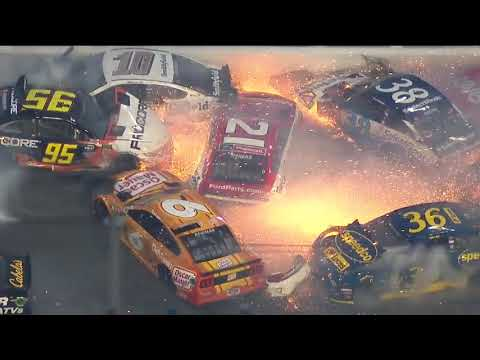 21 different racecars were involved in a 200-mph crash today in the Daytona 500