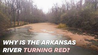 Why is the Arkansas River turning red?