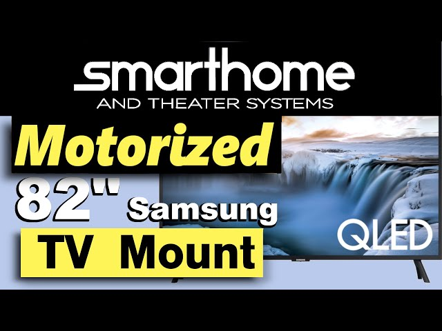 Motorized Flatscreen Mount for Large TV