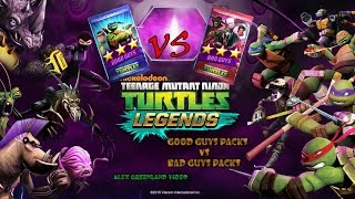 TMNT Legends - Good Guys and Bad Guys Packs Opening