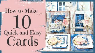 DIY Card Making Tutorial (FAST And EASY) ~ Mintay Harmony Collectiion