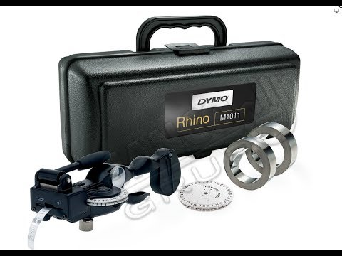 DYMO Rhino 1011 Industrial Label Maker Hard Case Kit 101110 S0720090 DE272941068