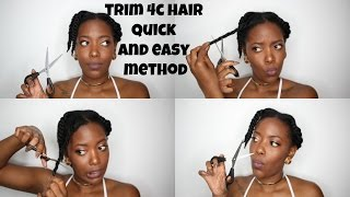 HOW TO TRIM 4C NATURAL HAIR