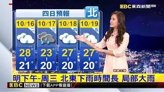 氣象時間 1071015 晚間氣象 東森新聞