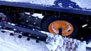 самодельный снегоход ,,ХАСКА,. показ.