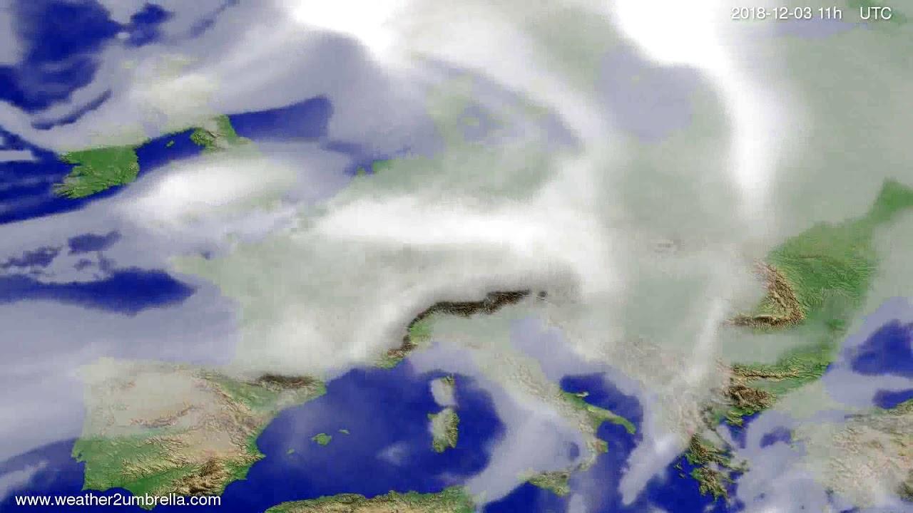 Cloud forecast Europe 2018-11-30