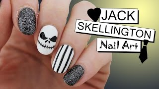 Halloween Nail Art | Jack Skellington From The Nightmare Before Christmas | Nailed It NZ