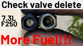2001 7.3 powerstroke gets high flow CVD fittings! With 0-60 test (Only video on YouTube!)