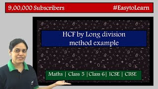 Example 2 HCF using long division method