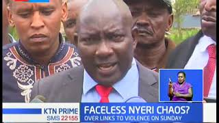 Nyeri county assembly demands the arrest of Ngunjiri Wambugu for instigating violence against Ruto