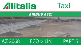 preview picture of video '[AZ 2068] Alitalia A321 - FCO to LIN (Part 5: Taxi to Ramp)'