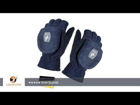 Fiebig Mädchenhandschuhe Handschuhe Fleecehandschuhe Winterhandschuhe Fausthandschuhe fingerlos 2in1