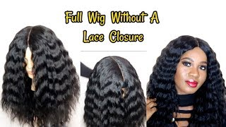 How To Make A Wig Without A Frontal  Reusing My Old Weave  Hot Glue Method