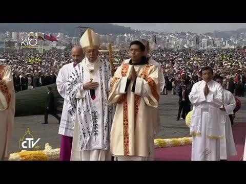 Messe du Pape au Parc du Bicentenaire à Quito