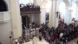 preview picture of video 'Missão Católica Portuguesa Delémont  O Coro na  Inoguração Saint-Marcel renovada'
