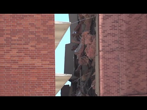 A utilities explosion Friday at the University of Nevada, Reno caused the partial collapse of a dormitory building and at least minor injuries, authorities said. (July 5)