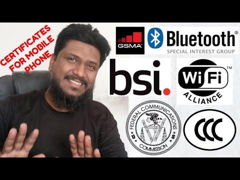 Mobile Phone Certificates FCC, 3C, CCC, Bluetooth SIG, WiFi ...