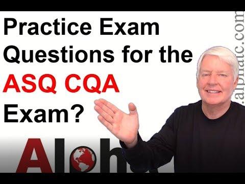 ASQ CQA Practice Exam - YouTube