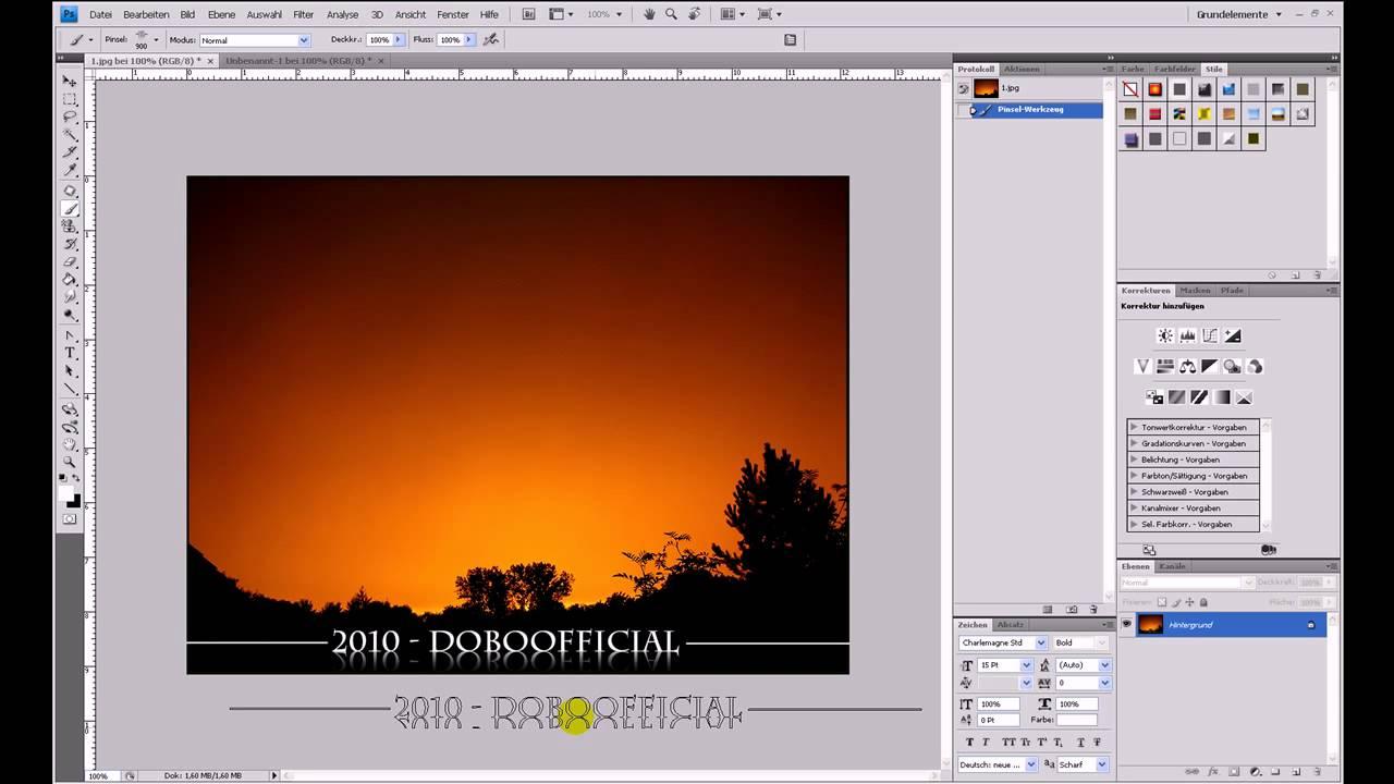 Muster, Spiegel und Pinsel – Photoshop-Tutorial