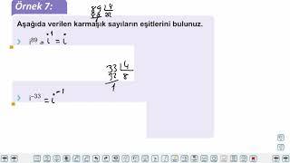 Eğitim Vadisi TYT Matematik 47.Föy Karmaşık Sayılar Konu Anlatım Videoları