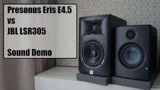 Presonus Eris E4.5 Vs JBL LSR305      Sound Demo #2