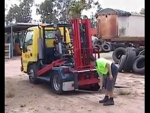 Isuzu Truck as a forklift