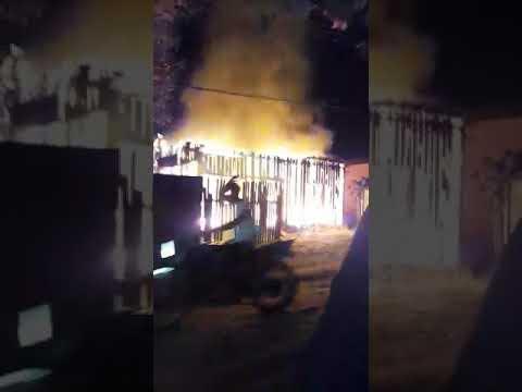 A casa que pegou fogo em Almeirim