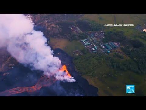 Lava from Kilauea volcano threatens energy plant