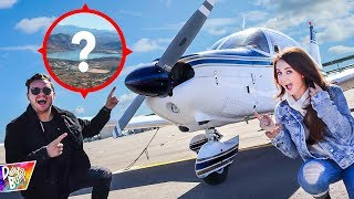 SURPRISING MY WIFE With Private Plane To MYSTERY BIRTHDAY LOCATION!!