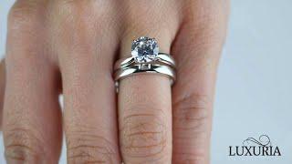 Luxuria – Bridal Ring Sets, Sterling Silver Wedding  Bridal Ring Set