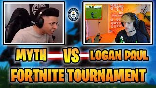 HOW MYTH DESTROYED LOGAN PAUL IN FORTNITE TOURNAMENT! (WINS 2VS2) Fortnite Battle Royale Highlights