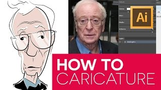 How To Draw Caricatures - Illustrator - Michael Caine