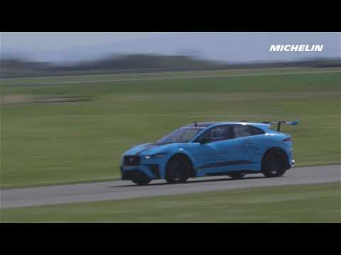 First track run of the Jaguar I-PACE eTROPHY - Michelin Motorsport