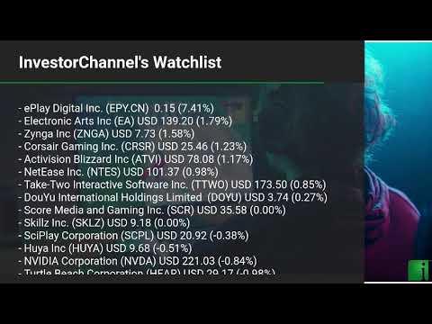 InvestorChannel's Esports Watchlist Update for Wednesday, October, 20, 2021, 16:00 EST