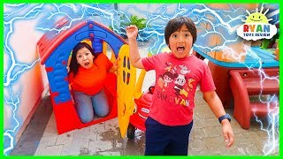 What Causes Lightning and Thunder??? |  Educational Video for kids with Ryan ToysReview