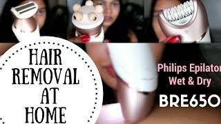 Easy Hair Removal At Home   Philips Satinelle Prestige BRE650 Wet and Dry Epilator Review