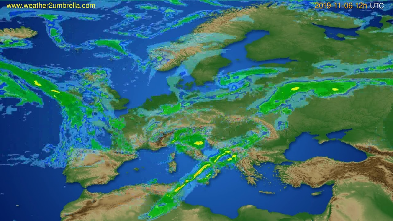 Radar forecast Europe // modelrun: 00h UTC 2019-11-06