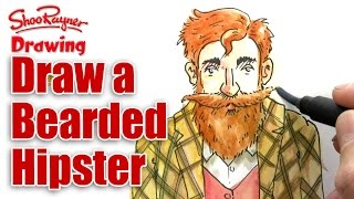 How To Draw A Bearded Hipster
